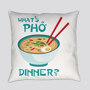Whats Pho Dinner? Everyday Pillow