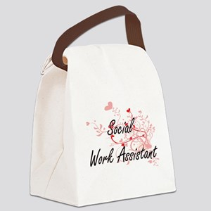 Social Work Assistant Artistic Jo Canvas Lunch Bag