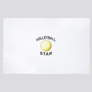 Volleyball Star 4' x 6' Rug