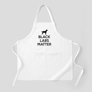 Black Labs Matter Apron