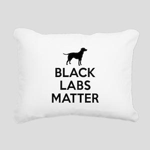 Black Labs Matter Rectangular Canvas Pillow