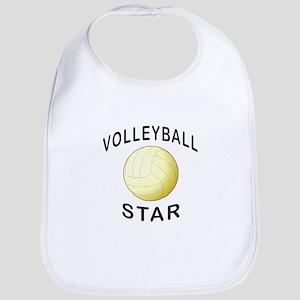 Volleyball Star Baby Bib