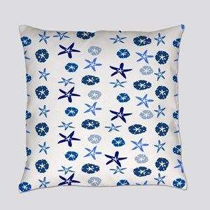 Blue Sand Stars & Dollars Everyday Pillow
