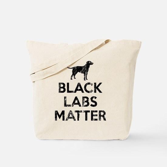 Vintage Black Labs Matter Tote Bag
