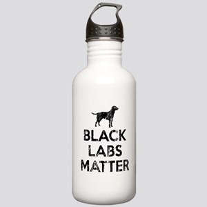 Vintage Black Labs Mat Stainless Water Bottle 1.0L