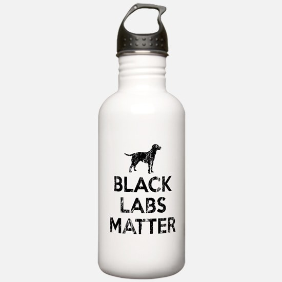 Vintage Black Labs Mat Water Bottle