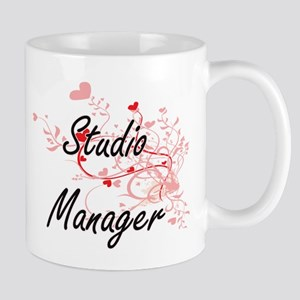 Studio Manager Artistic Job Design with Heart Mugs
