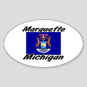 Marquette Michigan Oval Sticker