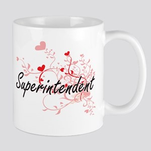 Superintendent Artistic Job Design with Heart Mugs