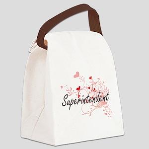 Superintendent Artistic Job Desig Canvas Lunch Bag