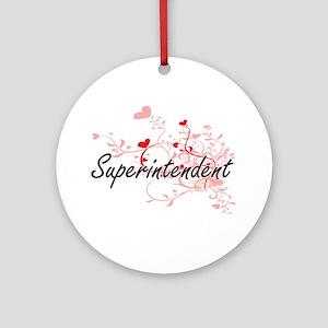 Superintendent Artistic Job Design Round Ornament