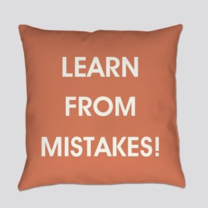 LEARN FROM MISTAKES! Everyday Pillow