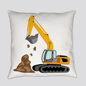 Excavator Everyday Pillow