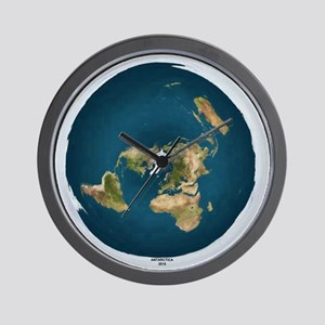 Flat Earth Wall Clock-9.5""