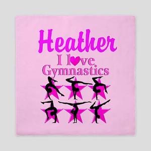 I Love Gymnastics Queen Duvet