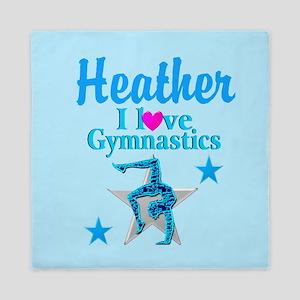 Blue Gymnast Queen Duvet