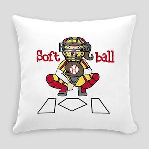Catch Softball Everyday Pillow