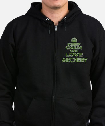 Keep calm and love Archery Zip Hoodie (dark)