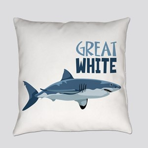 Great White Everyday Pillow