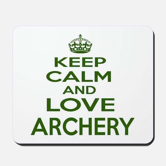 Keep calm and love Archery Mousepad
