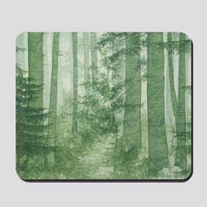 Green Misty Forest Mousepad