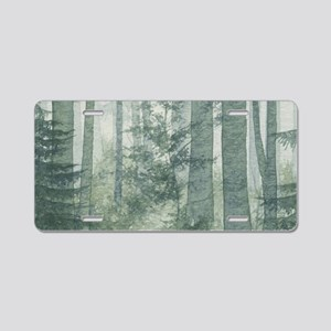 Misty Forest Aluminum License Plate