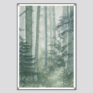 misty forest banners cafepress