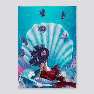 Mermaid in Shell 5'x7'Area Rug