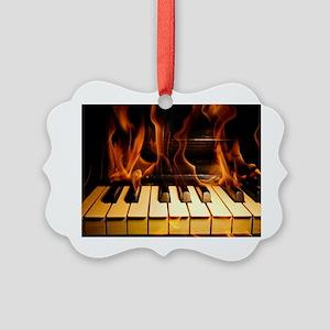 Burning Piano Picture Ornament