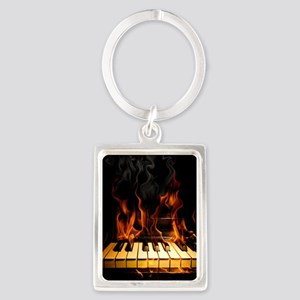 Burning Piano Portrait Keychain