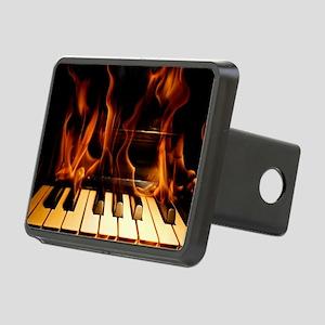Burning Piano Rectangular Hitch Cover