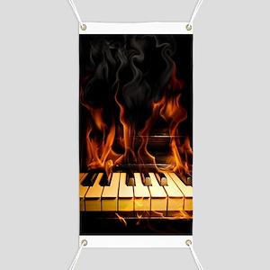 Burning Piano Banner