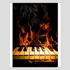 Burning Piano Small Poster