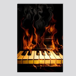 Burning Piano Postcards (Package of 8)