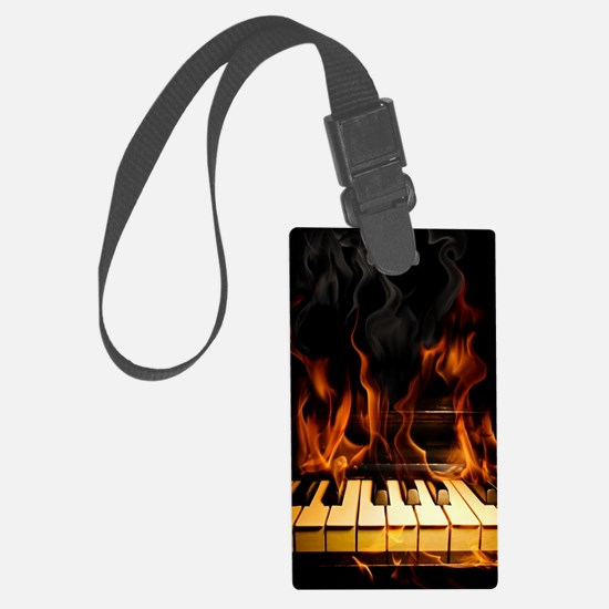 Burning Piano Luggage Tag