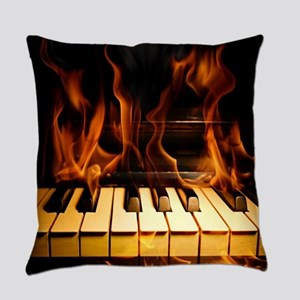 Burning Piano Everyday Pillow