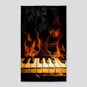 Burning Piano Area Rug