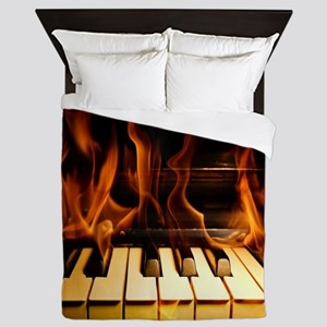 Burning Piano Queen Duvet
