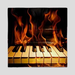 Burning Piano Queen Duvet