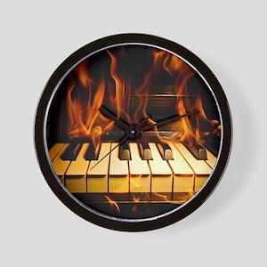 Burning Piano Wall Clock