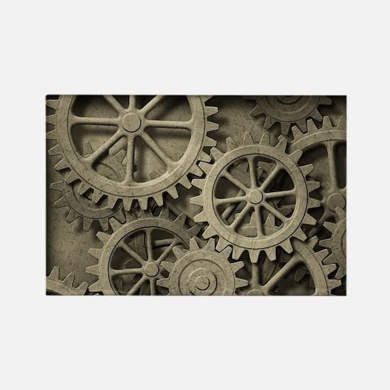 Steampunk Cogwheels Rectangle Magnet