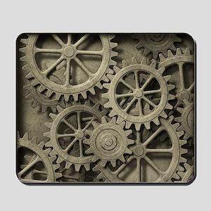 Steampunk Cogwheels Mousepad