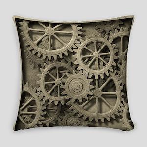 Steampunk Cogwheels Everyday Pillow