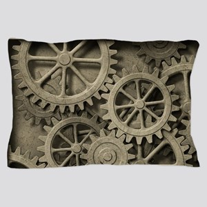 Steampunk Cogwheels Pillow Case