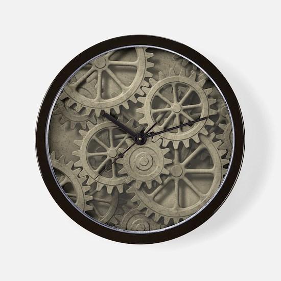 Steampunk Cogwheels Wall Clock