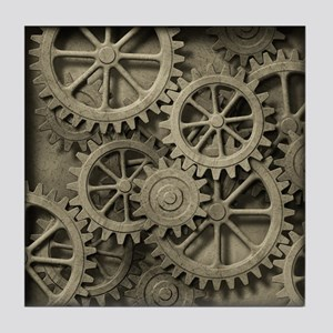 Steampunk Cogwheels Tile Coaster
