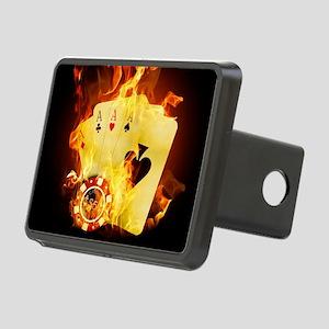 Burning Poker Rectangular Hitch Cover