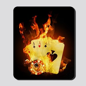 Burning Poker Mousepad