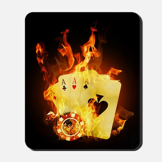 Burning Poker Mousepad