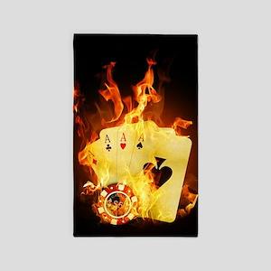 Burning Poker Area Rug